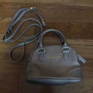 Silver small bag with cross body strap